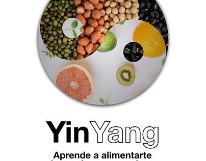 Cartel para charla sobre alimentos y el YinYang