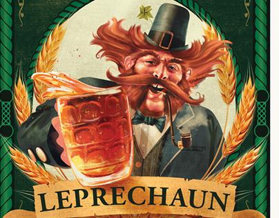 Leprechaun Beer Irish Ale - Label