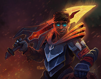 Dota 2 Dragon Knight (with the head of a friend)