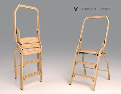 Vertigo. A Bendywood ladder
