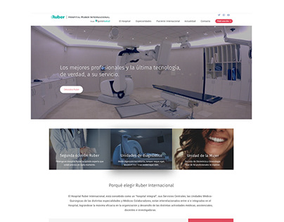 Web Clínica Ruber Madrid