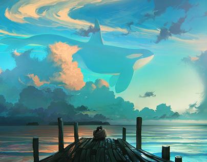 Digital Painting Sky Dreamers