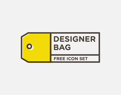 DESIGNER BAG - Free icon set