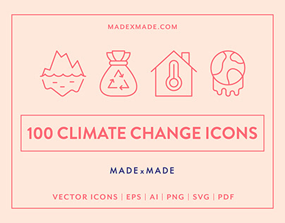 Line Icons – Climate Change