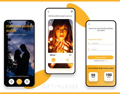Dating Mobile App Design - Sign Up