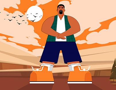 Man Character design illustration