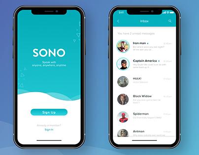 SONO - Messenger App UI