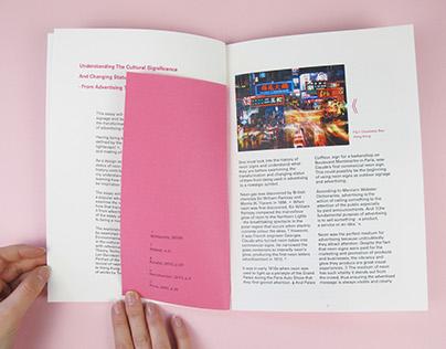 Neon Signage Designed Dissertation