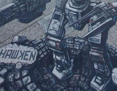 3D Street Art for Hawken at Gamescom 2012