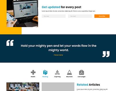 blog wesite design
