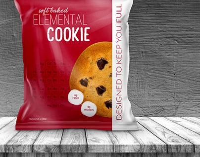 Protein cookies   Bag design