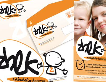 Diseño Imagen Corporativa Zabaleko Ikastetxea