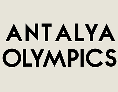 Antalya olympics / logo and pictograms