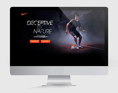 Nike Hypervenom - Web Design