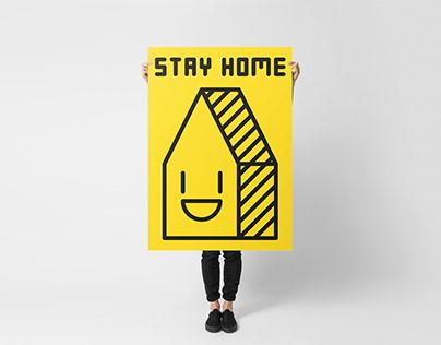 stay home (zostań w domu) poster (plakat)