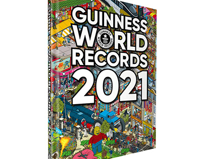 Guinness World Records 2021 Book Cover Illustration