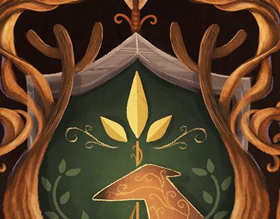"""Escudos """"Keswick y el Árbol de la vida"""""""