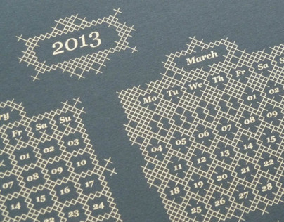 Screen printed Calendars 2013