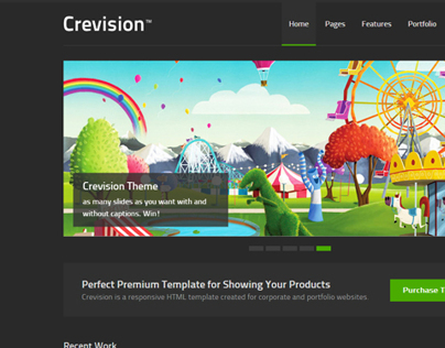 Crevision Responsive HTML Template
