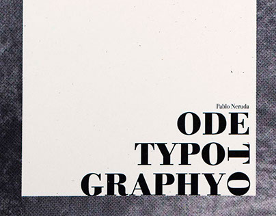 """Ode to Typography"""