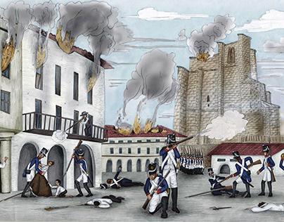 Ilustraciones sobre la Guerra de Independencia