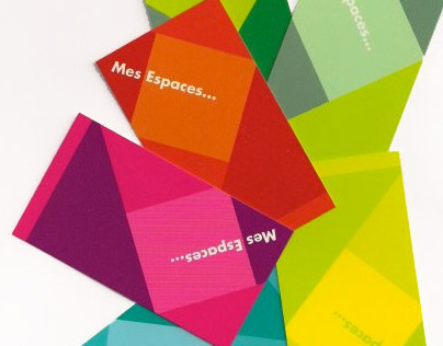 MES ESPACES : conception cartes affaires (2010)