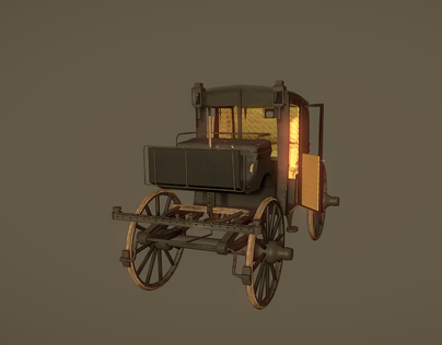 3D Victorian (Brougham) Carriage
