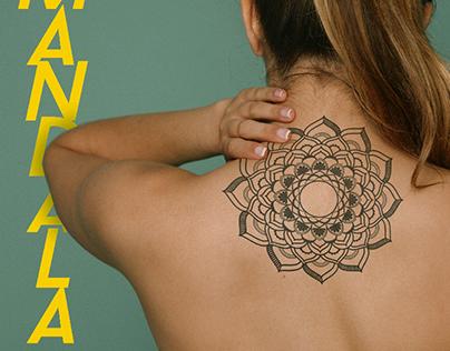 Mandala, uma bela tatuagem (Mockup