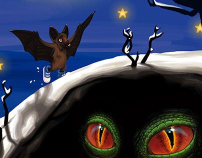 Illustration: Ferdinand, der letzte Weihnachtsdrache