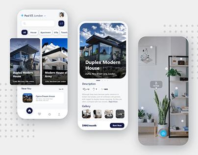 Home Rent App UI Design