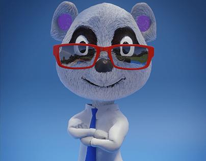Panda Trader - Mascote 3D
