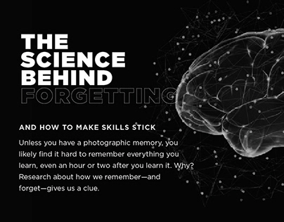 The Science Behind Forgetting Interactive Webpage
