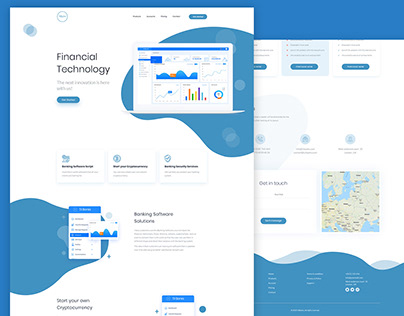 Financial technology website design