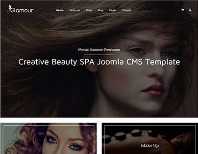 Glamour - Fashion & Beauty Joomla Template