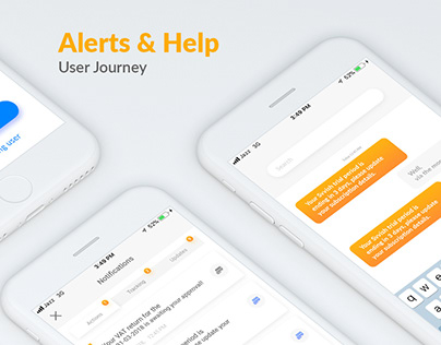Alerts & help journey - UI/UX