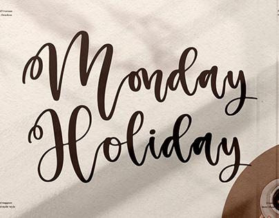 Monday Holiday - Beautiful Script Font