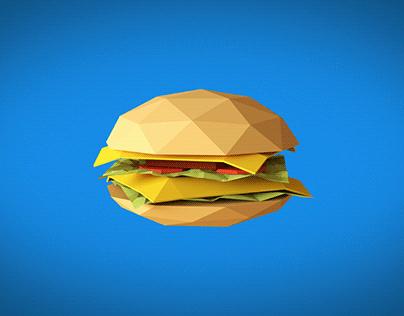 Low Poly Burger