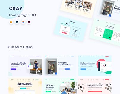 Okay - Landing Page UI KIT