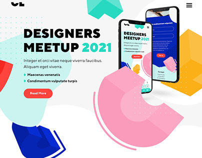 Designers meetup landing page