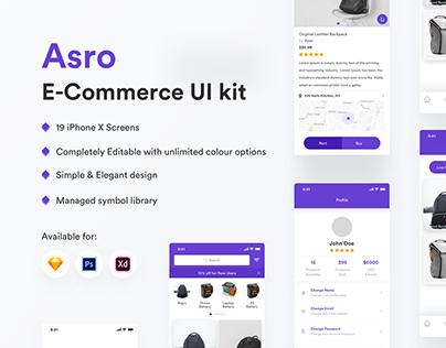 Asro E-Commerce APP UI Kit