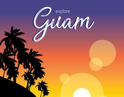 Explore Guam Travel Poster