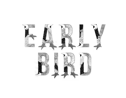 Early Bird - Typography & Illustration design