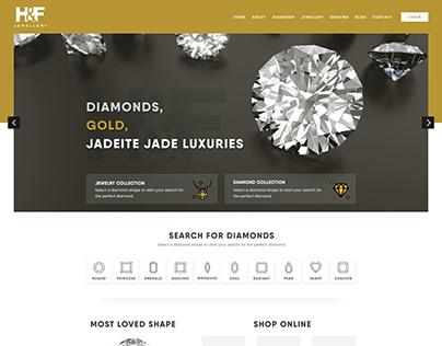 Diamond Jewellery Home Page concepts Design