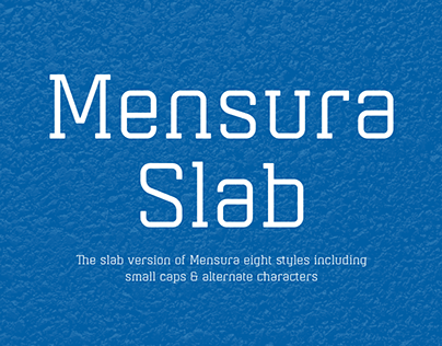 Mensura Slab Font Family