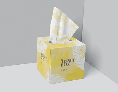 Square Tissue Box Mockups