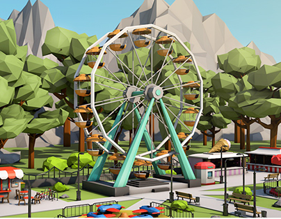 Low Poly Amusement Park