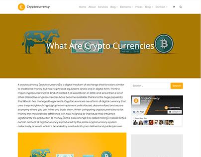 Single Blog Post - Cryptocurrency WordPress Theme