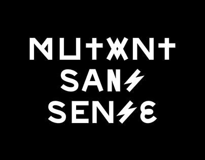 Mutant Sans Sense Typeface