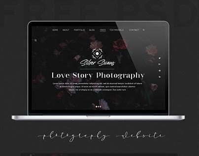 Free Photography Website Template + Logo Set
