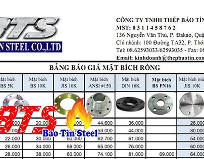 Bảng báo giá mặt bích rỗng - ongthepduc.com.vn